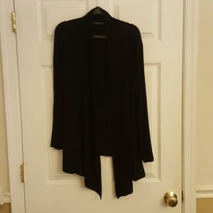 Isaac Liev Black Open Front  Cardigan